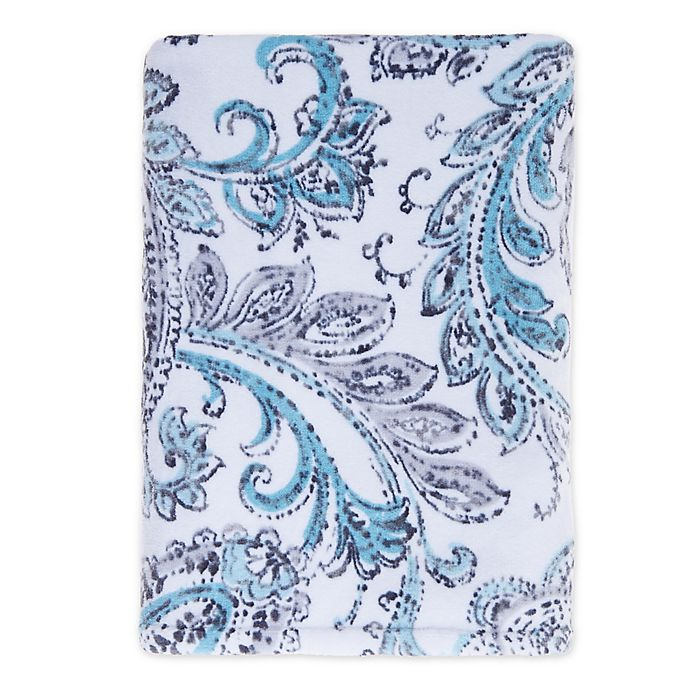 Alternate image 1 for Fashion Value Paisley Bath Towel in Teal