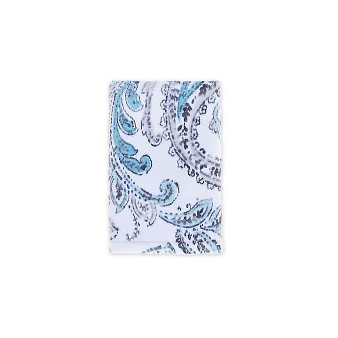 Alternate image 1 for Fashion Value Paisley Hand Towel in Teal