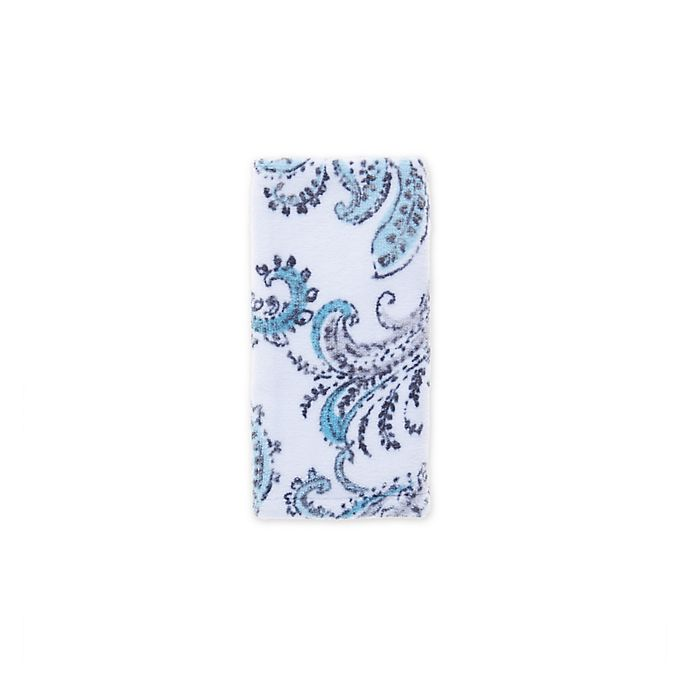 Alternate image 1 for Fashion Value Paisley Fingertip Towel in Teal