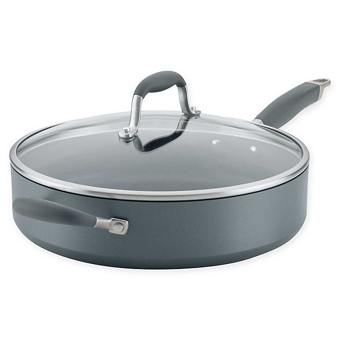 Alternate image 1 for Anolon® Advanced™ Home Nonstick 5 qt. Hard-Anodized Aluminum Saute Pan with Lid