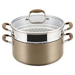 Anolon® Advanced™ Home Hard-Anodized 8.5 qt. Covered Stock Pot & Steamer Insert