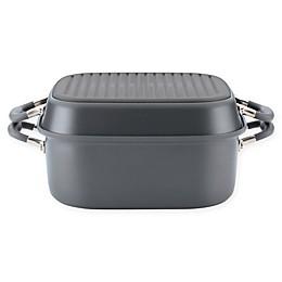 Anolon® Advanced™ Home Hard-Anodized Nonstick 7 qt. Square Roaster/Grill Pan Set