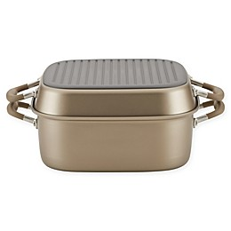 Anolon® Advanced™ Home Hard-Anodized Nonstick 7 qt. Square Roaster/Grill Pan Set
