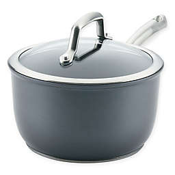 Anolon® Accolade Nonstick Hard Anodized 2.5 qt. Covered Saucepan in Moonstone