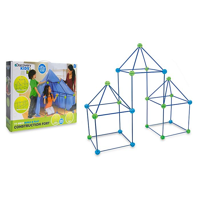 Discovery Kids 72 Piece Build And Play Construction Fort Set
