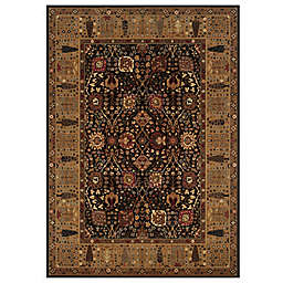 Couristan Cypress Garden Rug in Black/Deep Maple