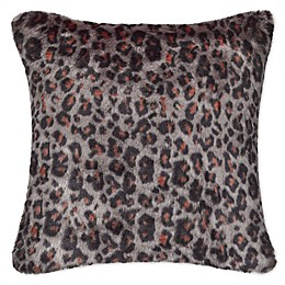 UGG® Sausalito Leopard Square Throw Pillow in Brown