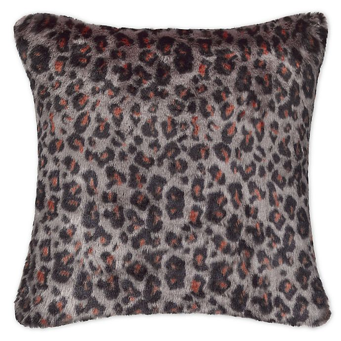 Alternate image 1 for UGG® Sausalito Leopard Square Throw Pillow in Brown