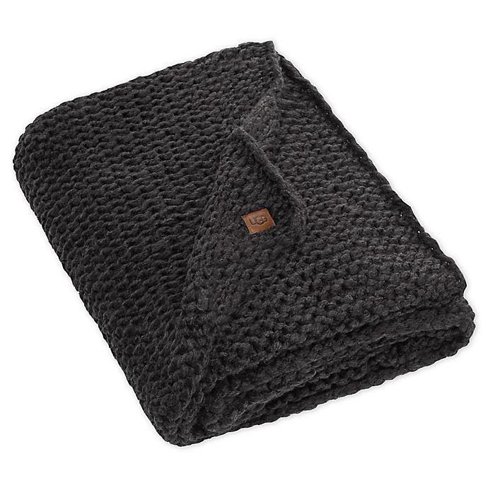 Alternate image 1 for UGG® Dorian Reversible Heavyweight Throw Blanket in Black