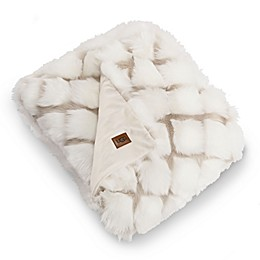 UGG® Kaley Reversible Throw Blanket in Snow/Birch