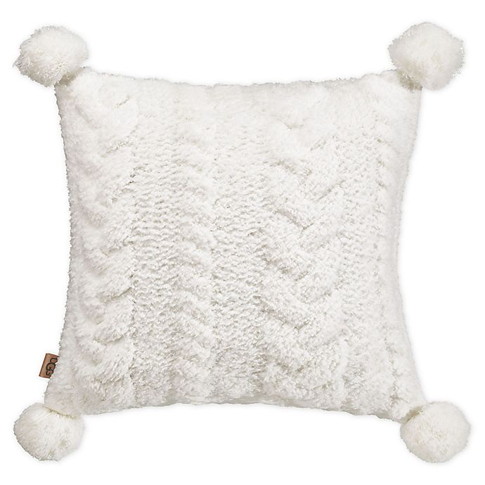 Alternate image 1 for UGG® Monroe Square Throw Pillow in Snow