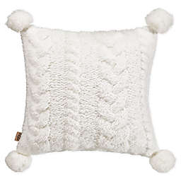 UGG® Monroe Square Throw Pillow in Snow