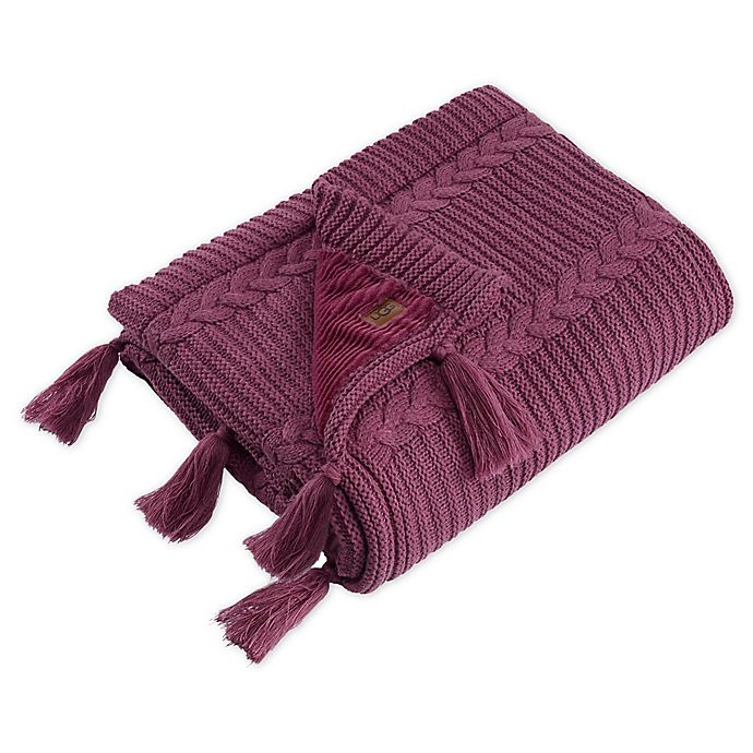 Alternate image 1 for UGG® Alameda Throw Blanket in Dusty Rose