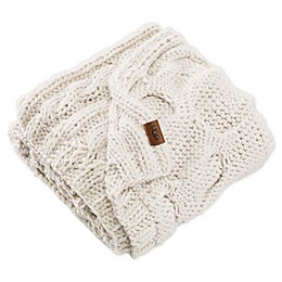 UGG® Tanner Hand Knit Throw Blanket in Snow