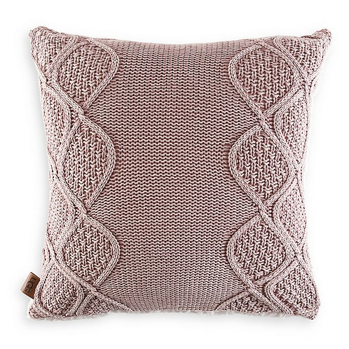 Alternate image 1 for UGG® Boulder Square Throw Pillow in Pink