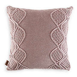 UGG® Boulder Square Throw Pillow in Pink