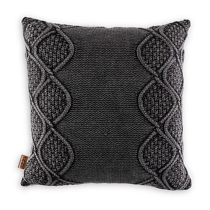 Alternate image 1 for UGG® Boulder Square Throw Pillow in Charcoal