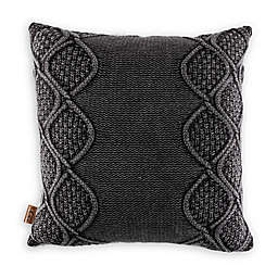 UGG® Boulder Square Throw Pillow in Charcoal