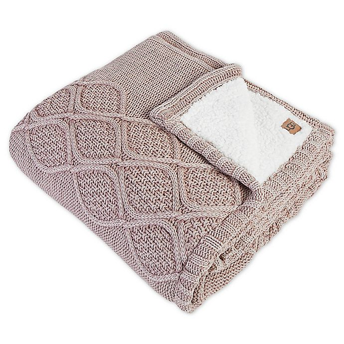 Alternate image 1 for UGG® Boulder Throw Blanket in Pink