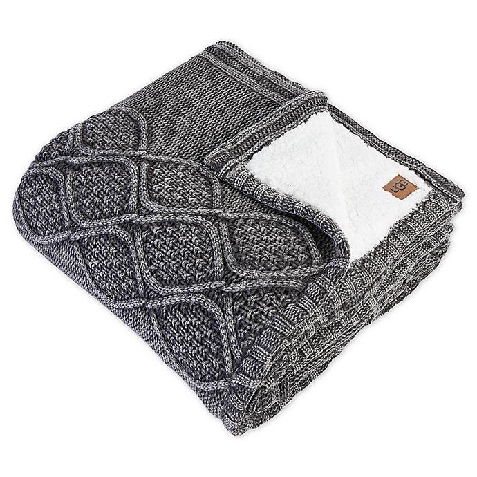 Alternate image 1 for UGG® Boulder Throw Blanket in Charcoal