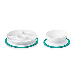 OXO Tot® 2-Piece Stick & Stay Bowl and Divided Plate Set