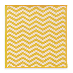 LinonHomeSilhouette Chevron Rugs in Yellow/White