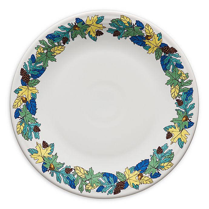 Alternate image 1 for Fiesta® Fall Fantasy Accent Plate in White