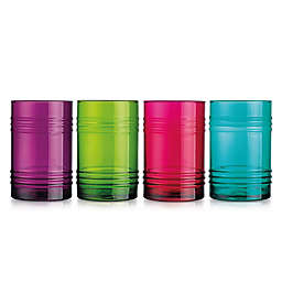 Home Essentials & Beyond Multicolored Highball Glasses (Set of 4)