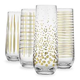Home Essentials & Beyond Stemless Champagne Glasses (Set of 4)