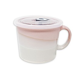 Boston Warehouse® Pastel Soup Mug with Lid in Pink