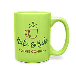 Wake & Bake Mug in Light Green
