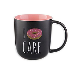 I Donut Care Mug in Black