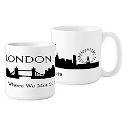 Cathys Concepts London Cityscape Coffee Mug in White (Set of 2)