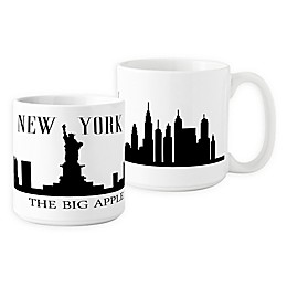 Cathys Concepts NYC Cityscape Coffee Mug in White(Set of 2)