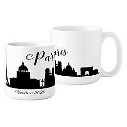 Cathys Concepts Paris Cityscape Coffee Mug in White (Set of 2)