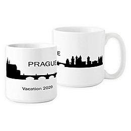 Cathys Concepts Prague Cityscape Coffee Mug in White (Set of 2)