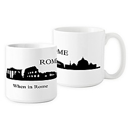 Cathys Concepts Rome Cityscape Coffee Mug in White (Set of 2)