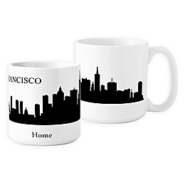 Cathys Concepts San Francisco Cityscape Coffee Mug in White (Set of 2)