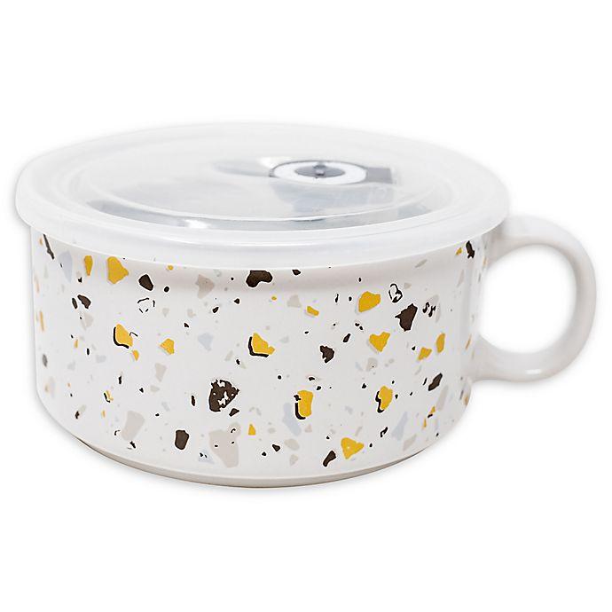 Alternate image 1 for Boston Warehouse® Terrazzo Soup Mug with Lid
