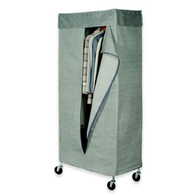 Commercial Grade Garment Rack With Tweed Cover Bed Bath
