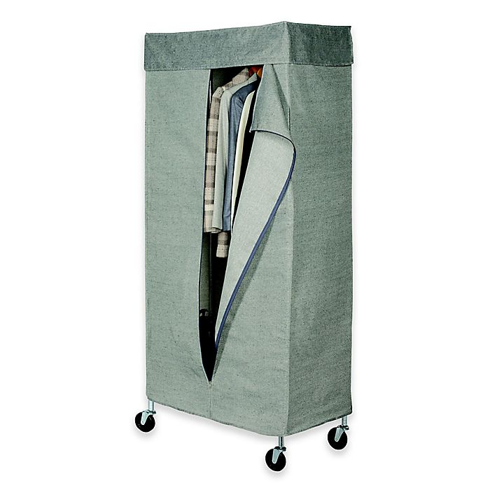 Alternate image 1 for Commercial Grade Garment Rack with Tweed Cover