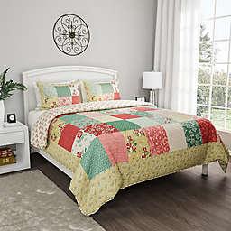 Nottingham Home Floral Reversible Comforter Set