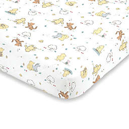 Disney® Classic Pooh Fitted Mini Crib Sheet in Ivory