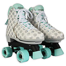 Circle Society Size 12-3 Adjustable Roller Skates in Grey/Aqua