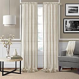 Enza Sheer Rod Pocket Window Curtain Panel Pair