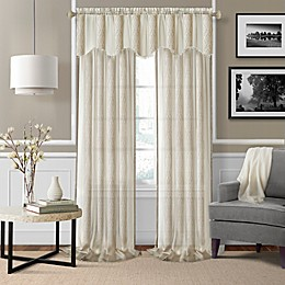 Enza Sheer Window Curtain Panel Pair and Valance