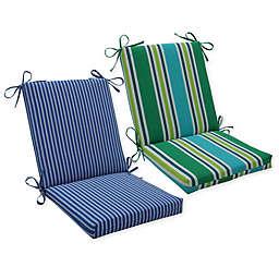 Pillow Perfect Stripe Squared Corner Chair Cushion