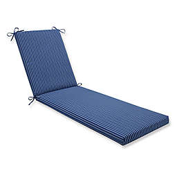 Pillow Perfect Resort Stripe 80-Inch Chaise Lounge Cushion in Blue