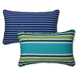 Pillow Perfect Stripe Rectangular Throw Pillow Set (Set of 2)