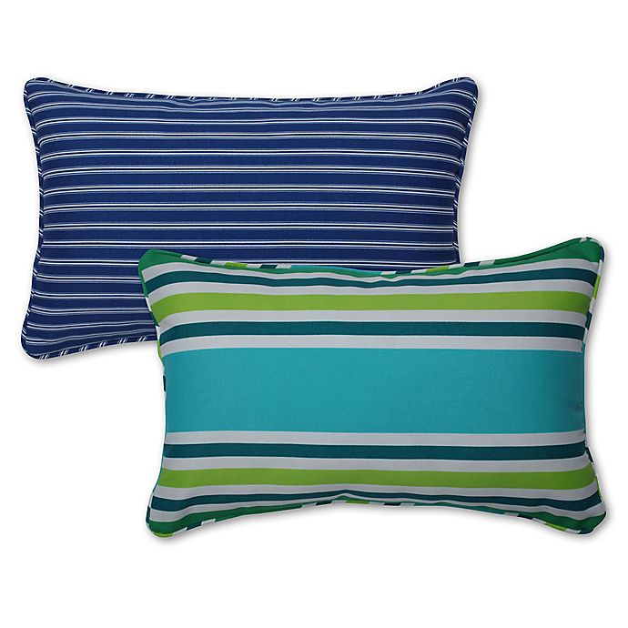 Alternate image 1 for Pillow Perfect Stripe Rectangular Throw Pillow Set (Set of 2)